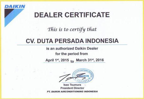 Dealer Certificate1